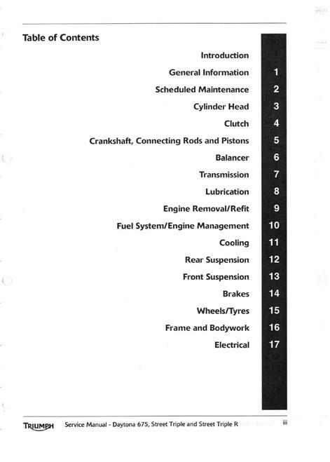 2012 Triumph Daytona 675 Service Manual