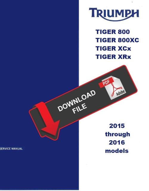 2016 Triumph Tiger Xcx Service Manual