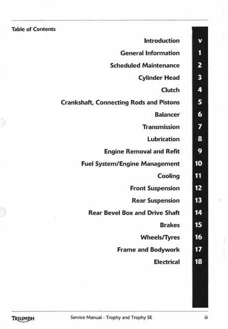2013 Triumph Trophy Service Manual