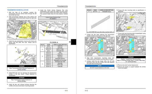 Polaris 2017 RZR XP 1000 Service Manual