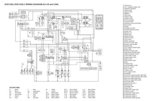 [SCHEMATICS_4CA]  Yamaha 2002 V-Star 1100 Classic Service Manual | 2000 Yamaha V Star 1100 Wiring Diagram |  | Service Manual Warehouse