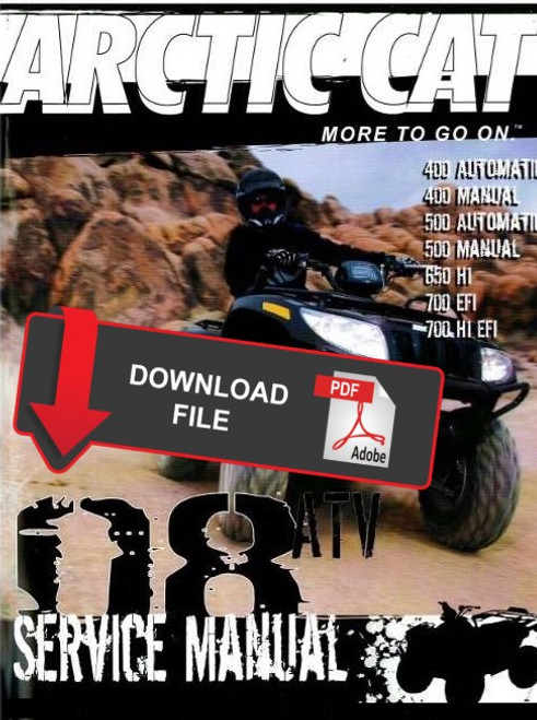 Arctic Cat 1998 500 4x4 Atv Service Manual