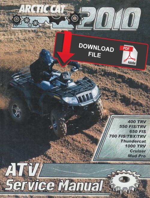 Arctic Cat 2010 Atv 550 Mudpro 4x4 Service Manual