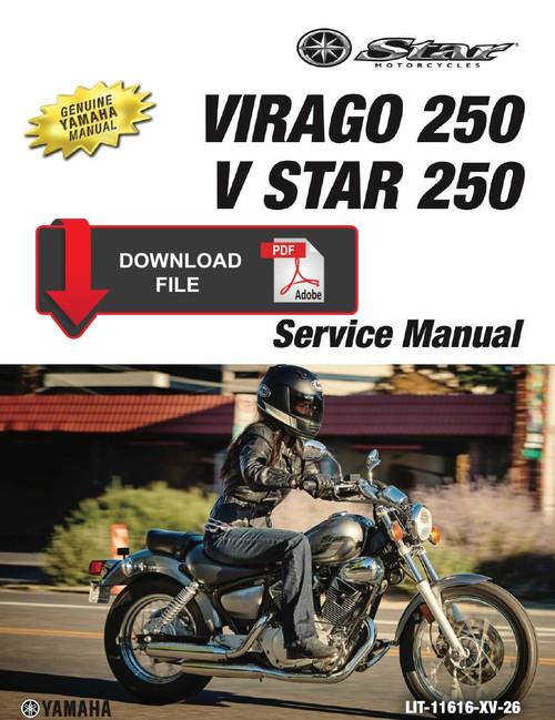 Yamaha 2018 V Star 250 Service Manual