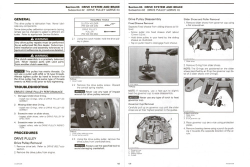 Ski-Doo 2015 MXZ Sport 600 Carb Service Manual
