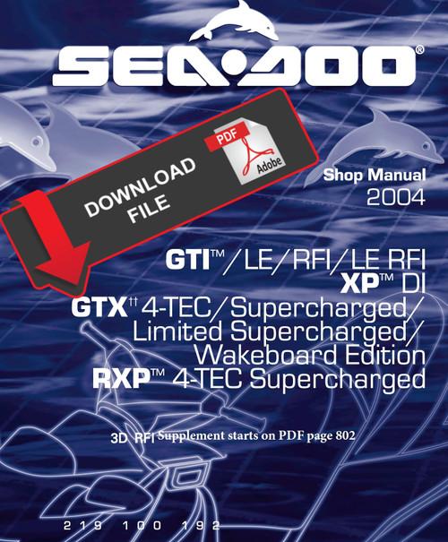 Sea Doo Jetski Pwc Service Manual Downloads