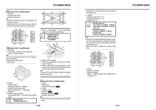 Yamaha 2017 TMAX XP 530 Service Manual