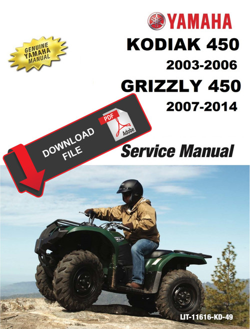 Yamaha 2010 Grizzly 450 Service Manual