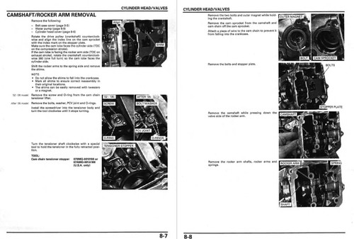 Honda 2003 CHF50 Metropolitan Scooters Service Manual