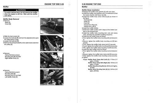 Kawasaki 2018 Ninja 1000 Service Manual