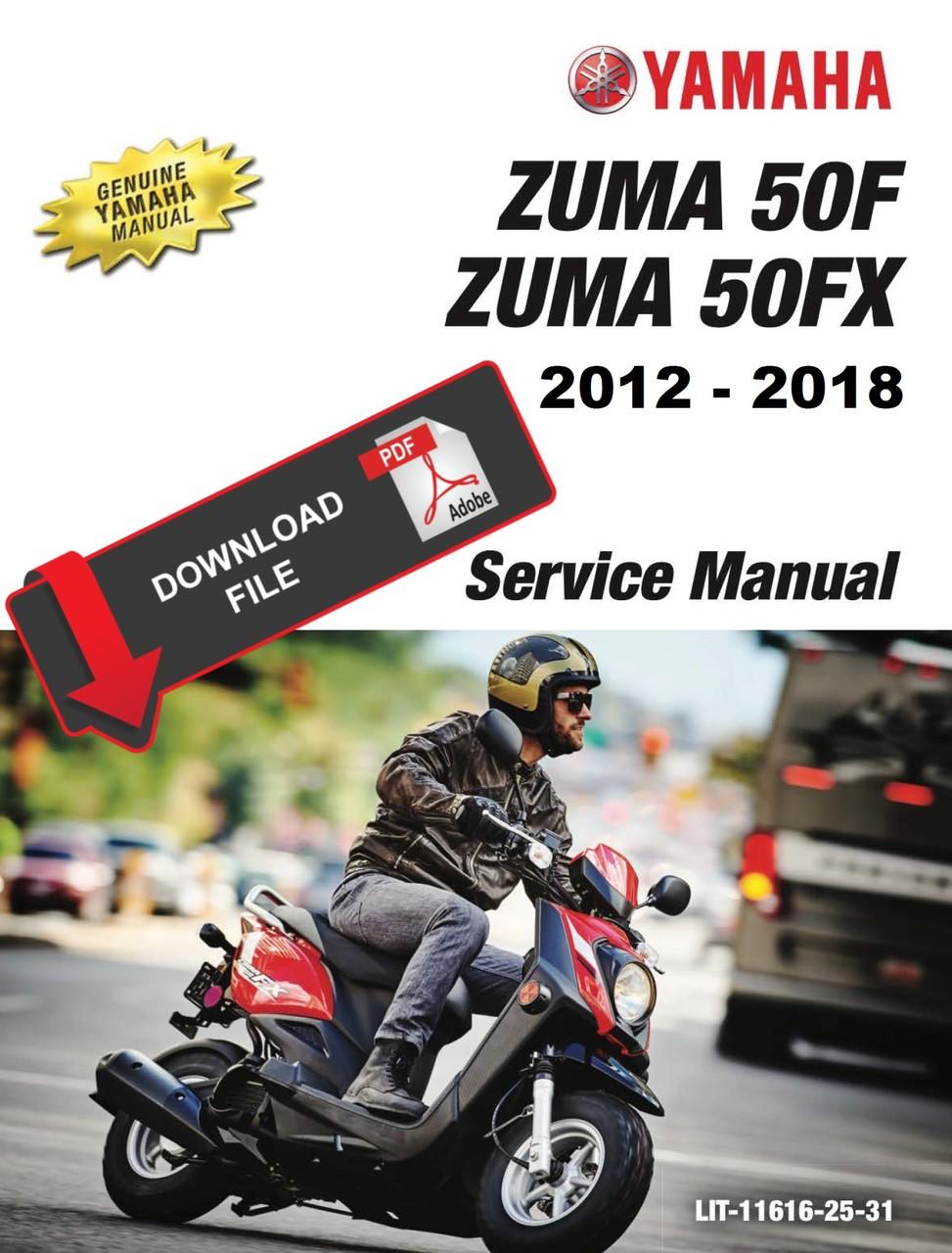 Yamaha 2018 Zuma 50 Service Manual