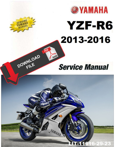 yamaha 2015 yzf-r6 service manual  service manual warehouse