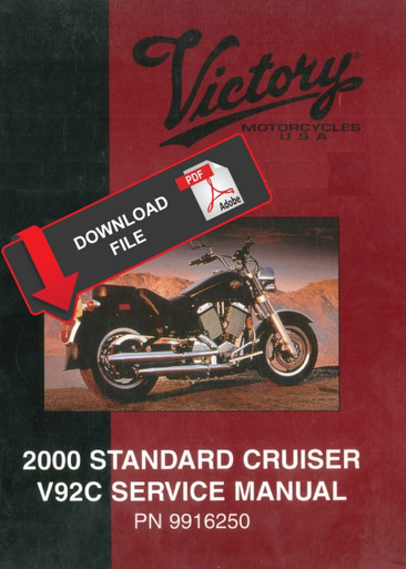 Victory 2000 V92C Standard Cruiser Service Manual on