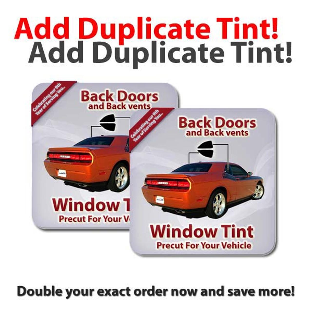 Ceramic Precut Back Door Tint for Acura EL Only 2001-2005