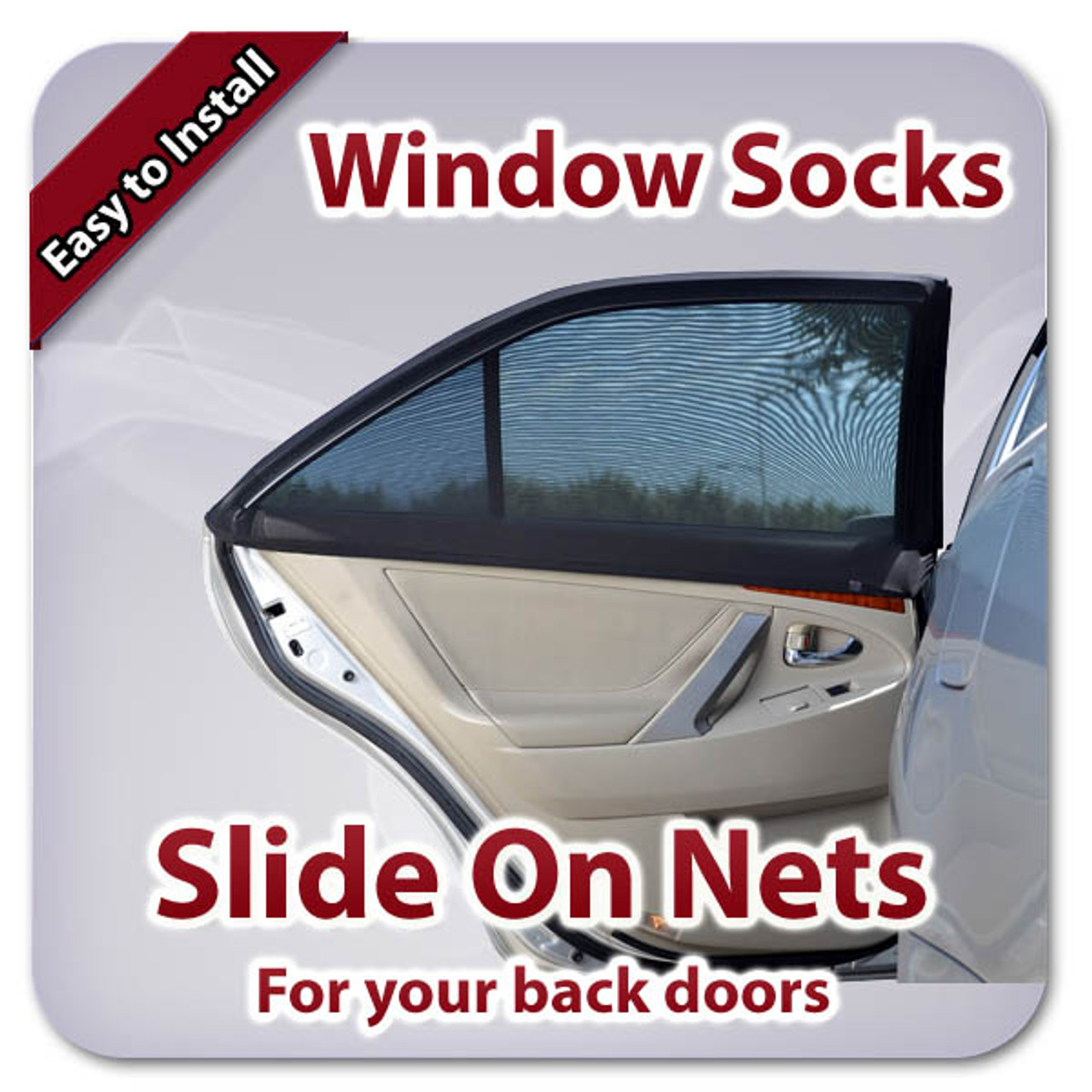 Universal Window Socks Slip On Netting for Both Back Doors