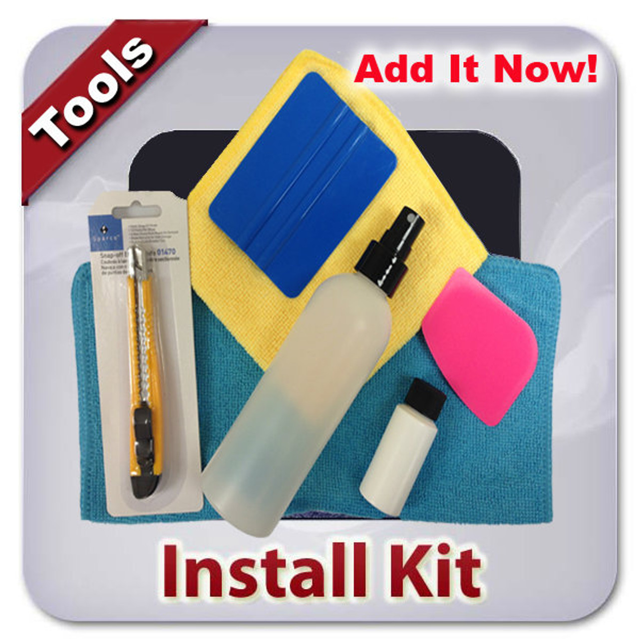 Installation tools to finish your clear bra project.