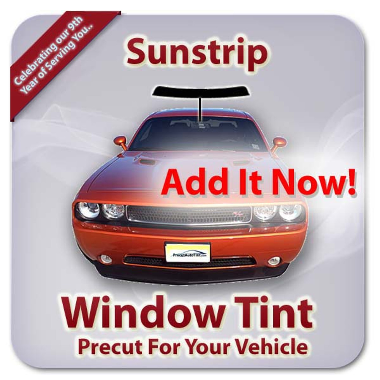 Add a sunstrip for your windshield.