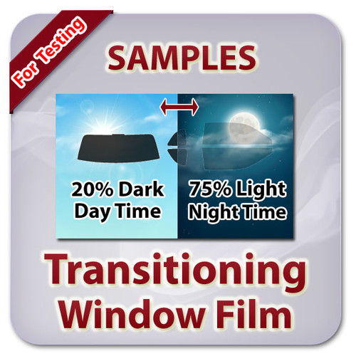 Samples Of Photochromic Window Film Only