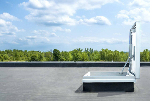 Milcor 40 x 40 - EE Single Leaf Roof Hatch - Galvanized Steel Cover and Curb - Milcor