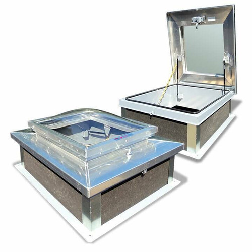 Acudor USA 30 x 30 Aluminum Domed Roof Hatch - Acudor