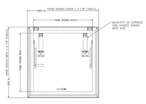 Bilco 30 x 54 Galvanized Steel Versamount Roof Hatch - Bilco