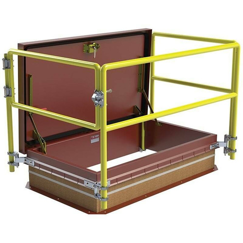 Bilco 48 x 48 Equipment Access Thermally Broken Roof Hatch Safety Railing System - Bilco