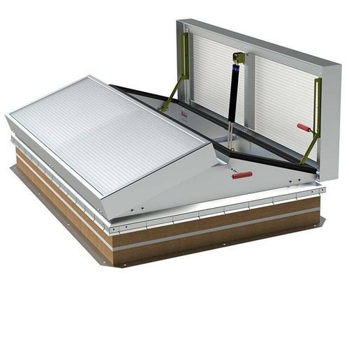 Bilco 60 x 60 Aluminum Lumivent Daylighting Smoke Vent - Bilco