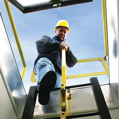 Bilco Galvanized Steel Ladder Up Safety Post - Bilco