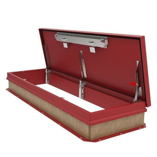 Babcock Davis 30 x 96 Aluminum Cover with Galvanized Steel Personnel Roof Hatch