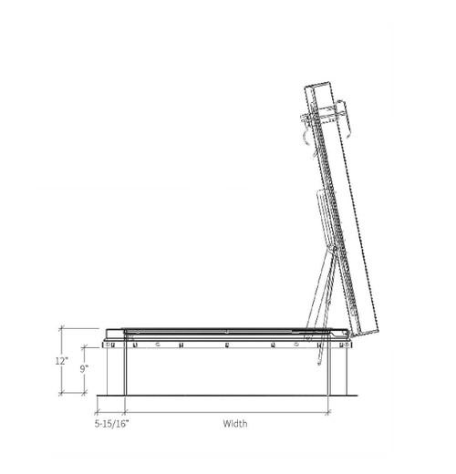 Babcock Davis 30 x 54 Aluminum ThermalMAX Roof Hatch