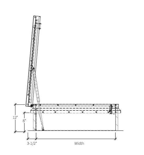 Babcock Davis 36 x 30 Galvanized Steel Single Door SafeMAX Smoke Vent, Rooftop Close with Electrical Opening Mechanism