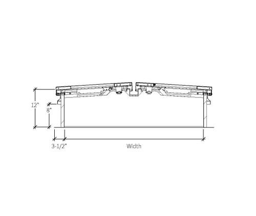 Babcock Davis 66 x 144 Galvanized Steel Quad Door SafeMAX Smoke Vent, Rooftop Close with Electrical Opening Mechanism