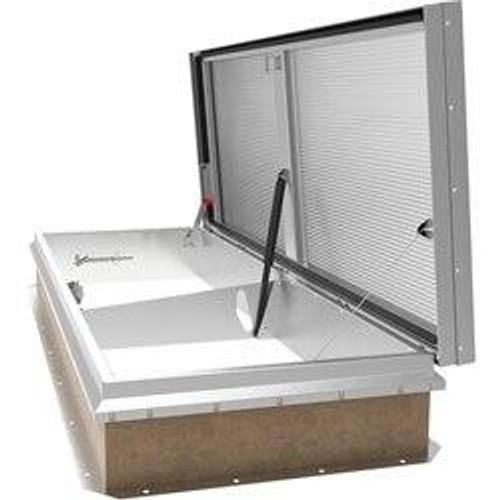 Babcock Davis 48 x 96 Aluminum LightMAX eco Smoke Vent, Single Dome Rooftop Close