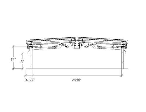 Babcock Davis 66 x 144 Aluminum Quad Door LightMAX Smoke Vent, Rooftop Close with Electrical Opening Mechanism
