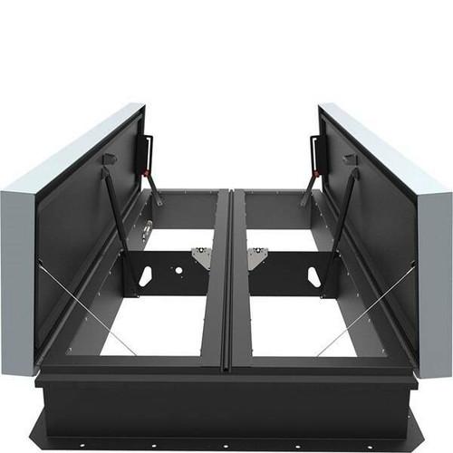 Babcock Davis 48 x 96 Galvanized Steel Double Door AcousticMAX 48 Smoke Vent, Manual Winch with Electrical Opening Mechanism