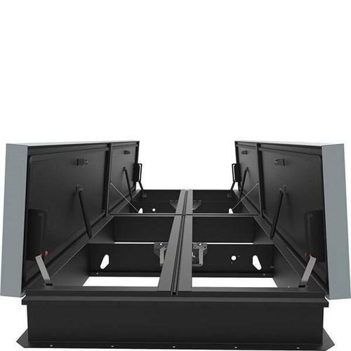 Babcock Davis 66 x 144 Galvanized Steel Quad Door AcousticMAX 48 Smoke Vent, Manual Winch with Electrical Opening Mechanism