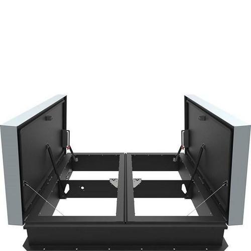 Babcock Davis 48 x 96 Galvanized Steel Double Door AcousticMAX 50 Smoke Vent, Linear Actuator with Electrical Opening Mechanism