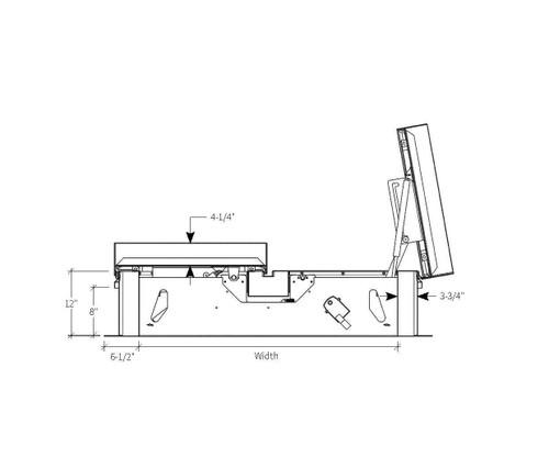 Babcock Davis 66 x 144 Galvanized Steel Quad Door AcousticMAX 50 Smoke Vent, Manual Winch with Electrical Opening Mechanism