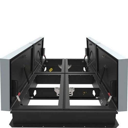 Babcock Davis 66 x 144 Galvanized Steel Quad Door AcousticMAX 50 Smoke Vent, Linear Actuator with Electrical Opening Mechanism
