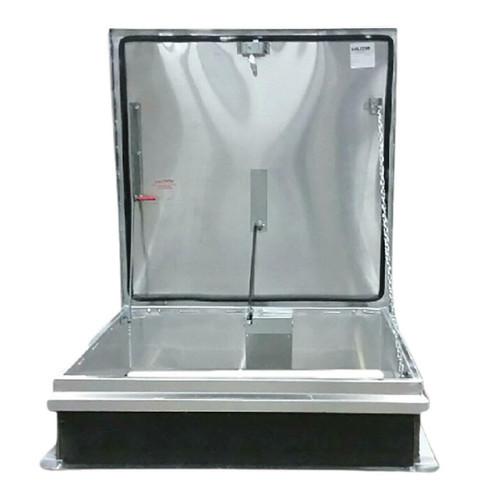 Milcor 36 x 36 Galvanized Steel Single Leaf Hatch - 70 psf - Ladder Access - Milcor