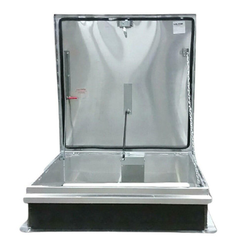 Milcor 36 x 30 Aluminum Cover with Galvanized Steel Single Leaf Hatch - 40 psf - Ladder Access - Milcor
