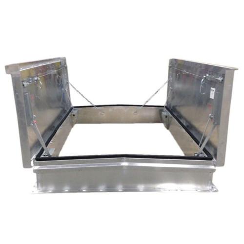 Milcor 72 x 132 Aluminum Cover with Galvanized Steel Equipment Access - Milcor