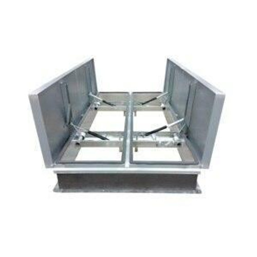 Milcor 60 x 120 Aluminum Cover with Galvanized Steel Big Smoky UL/FM Vents - Milcor