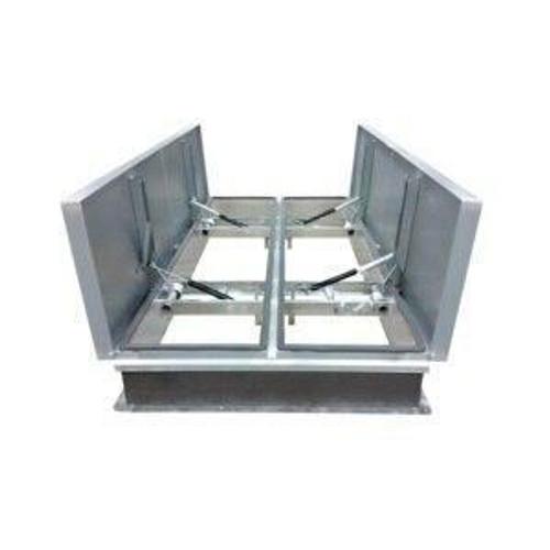 Milcor 60 x 132 Aluminum Cover with Galvanized Steel Big Smoky UL/FM Vents - Milcor