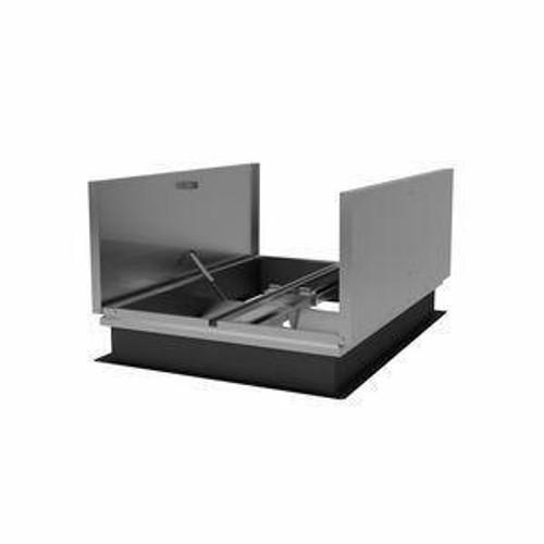 Milcor 48 x 96 Aluminum Cover with Galvanized Steel Low Profile Smoke Vent - Milcor