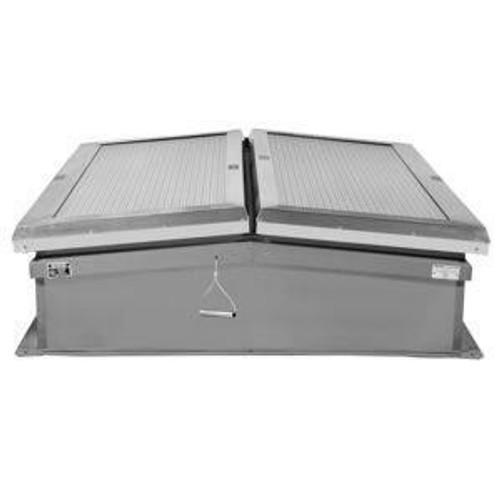 Milcor 72 x 72 Aluminum Flat Panel Skylight - Milcor