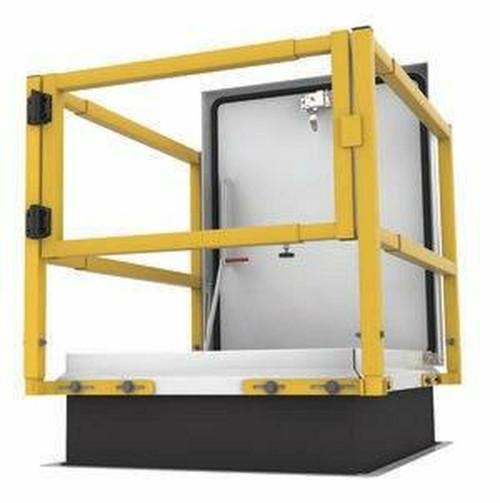Milcor SAF-T-RAIL Standard Retrofit Safety Railing - Service Stair