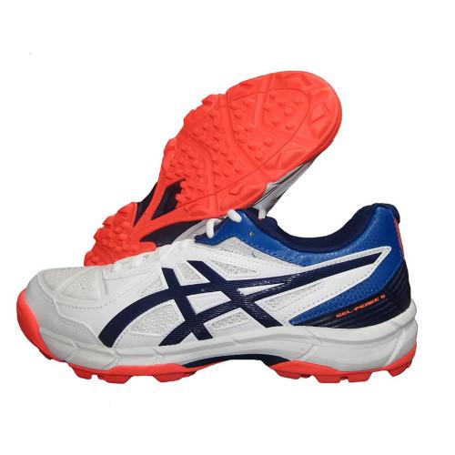 Asics Gel Peake 5 Cricket Shoes White & Blue Expanse