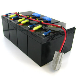 Amstron Replacement Backup Battery for APC RBC25 - High Capacity
