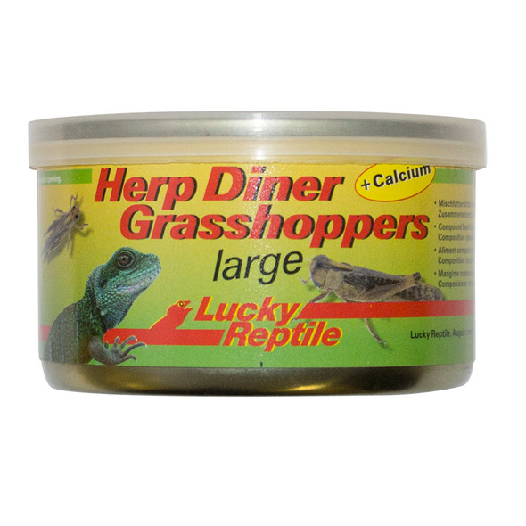 Lucky Reptile Herp Diner Grasshoppers Lg 35g HDC-22